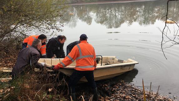Vissen In Vijver : L mburg centraal reddingsactie voor vissen in vijver in echt l